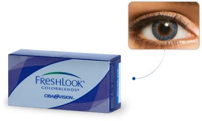 Lentilles de contact Freshlook Freshlook Colorblends BLEU AZUR (Blue)