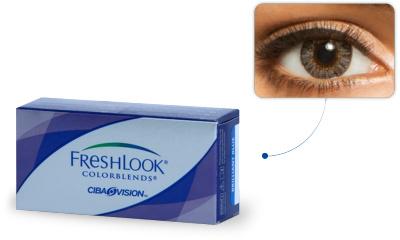 Lentilles de contact Freshlook Freshlook Colorblends GRIS PERLE (Gray)