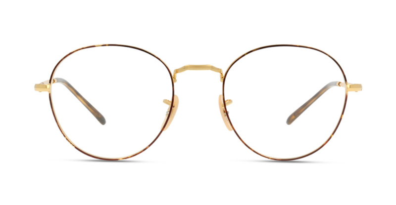 Grandoptical Optique Ray Ban 3582v 2945 Gold On Top Havana