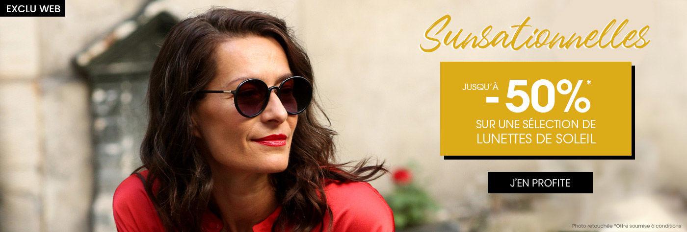 Sunsationnelles : Jusqu'à -50% sur les lunettes de soleil