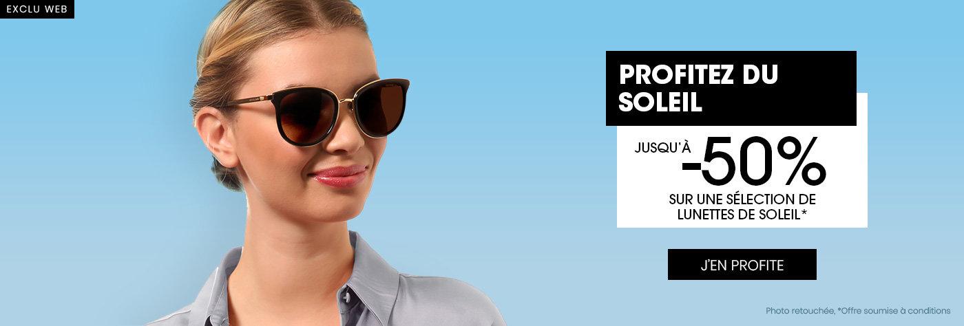 Jusqu'à -50% sur les lunettes de soleil
